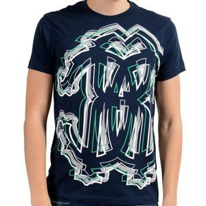 Roberto Cavalli Men's Navy Blue Graphic T-Shirt